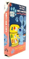 BLUE'S CLUES PLAY ALONG WITH BLUE ABC'S AND 123'S Young Child Show VHS 1999