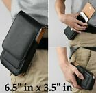 For Samsung Galaxy A71 5G - Black Leather Vertical Holster Pouch Belt Clip Case