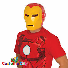 Adults Official Marvel Iron Man Mask Avengers Fancy Dress Costume Accessory
