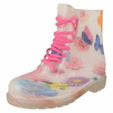 Lace Up Rubber Floral Shoes for Women