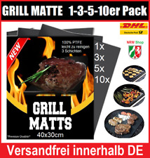 Grillmatte BBQ Profi PTFE ANTI-HAFT Teflon Glasfaser Grill Unterlage Matte Folie