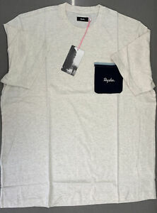 Rapha Men's Logo Pocket T-Shirt Off White Navy X Large New With Tag
