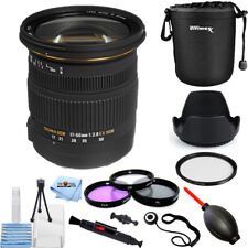 Sigma 17-50mm f/2.8 EX DC OS HSM Zoom Lens for Canon DSLRs Pro Filter Kit Bundle