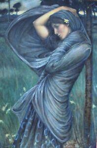 "Boreas - Reproduction, John William Waterhouse by Matt Holton 27""x40"" on Canva"