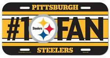Pittsburgh Steelers License Logo Plate Sign 11 13/16in, NFL Football, New