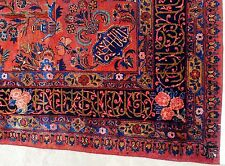 EXCLUSIVE SIGNED  REAL ANTIQUE PERSIAN MANCHESTER KASHAN RUG