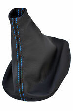 BLUE STITCH FITS VW POLO MK4 4 IV 9N 9N3 01-09 GEAR COVER GAITER REAL LEATHER