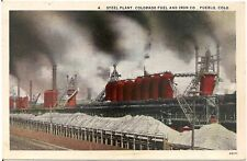 Steel Plant, Colorado Fuel and Iron Company in Pueblo CO Postcard 1928