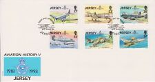 Unaddressed Jersey FDC First Day Cover 1993 Aviation History V RAF Set 10% off 5