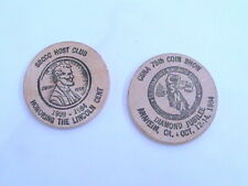 WOODEN NICKEL CSNA 75TH COIN SHOW DIAMOND JUBILEE ANAHEIM CA OCT 12-14, 1984