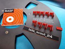 Bandklammern Original Basf 10 Stück NOS auch für Revox Alu-Spulen und andere