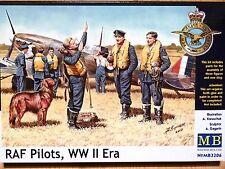 Masterbox 1:32 raf pilots wwii era figures model kit
