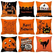 Halloween Pillows Cover Polyester Sofa Pumpkin ghosts Cushion Cover Home Decor