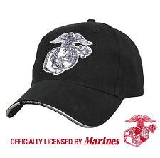 US Marine Corps EG A Black Ball Cap USMC Vietnam OEF OIF Gulf War Veteran  Hat 1104c080cabe