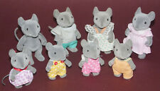 SYLVANIAN FAMILIES * Vintage Mice Figures * 8 Figures * Family *