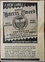 Indipendente Harris Tweed Produttori Ltd.Vintage Annuncio Pubblicitario 1960