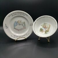 2 Piece Peter Rabbit Set from Wedgewood, Beatrix Potter, Frederick & Warne Engl