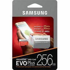 Samsung EVO Plus 256gb MicroSD Micro SDXC C10 Flash Memory Card W/ SD Adapter