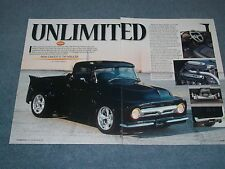 "1956 Ford F-100 Custom Pickup Article ""Unlimited"" F100 Truck"