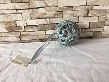 Kugel, Deko-kugel Neu Silber /Grau , mit Aufhängen  Möglichkeit