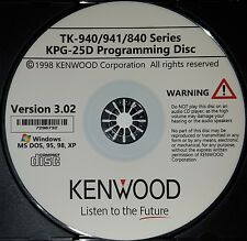 Kenwood KPG-25D Version 3.02 Programming Software for TK-940/941/840 Series