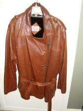 Vintage Bremans Brown Leather Jacket Size Large(?) Very Cool  Zipper Lining