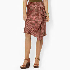 Lauren Ralph Lauren Ruffled chevron Striped Wrap Skirt, Knee length, 2, $109