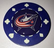 Columbus Blue Jackets Poker CHIP CARD GUARD Protector, Poker Weight Chip