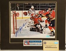 Mark Messier Signed NY Rangers 1500th Point Elite Matted 8x10 Photo Steiner COA