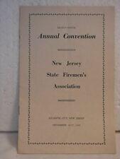 1966  NJ State Fire Fighter Association- Convention Program Atlantic City NJ