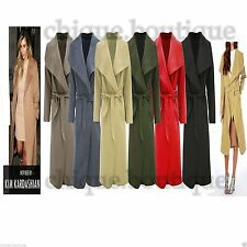 Unbranded Patternless Full Length Coats & Jackets for Women