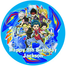Personalised Beyblade Burst 19cm  Edible Wafer Paper Cake Topper