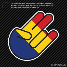 Romanian Shocker Sticker Die Cut Decal Self Adhesive Vinyl Romania ROU RO