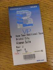 06/11/2012 Ticket: Birmingham City v Bristol City (VIP Pass - Wiseman Suite - Ho