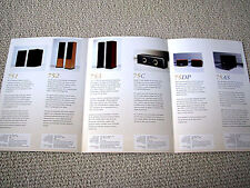 Mission 75 series speaker brochure catalogue