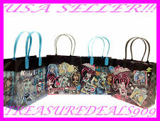 6 PCS MONSTER HIGH PARTY FAVOR GOODIE BAGS MATTEL CANDY LOOT GIFT BIRTHDAY BAG