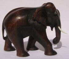 Hand Carved Thai Wooden Elephant Brand New 22cm Tall Size