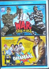 WAR, DHAMAAL, 2 HINDI BOLLYWOOD MOVIES, 1 DVD,