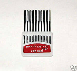 CONSEW 206RB WALKING FOOT NEEDLES #22 (10 EACH)