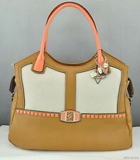 New Stylish Gift Ideas Handbag GUESS Satchel Tote Pembrook Zip Ladies Cognag Bag
