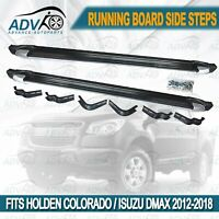 Silver Edge Side Steps for Holden Colorado Dmax RG 2012-on Running Boards