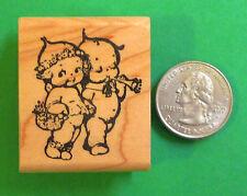 Kewpie Twins, Wood Mounted Rubber Stamp