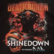 two sided FIVE FINGER DEATH PUNCH--SHINEDOWN t-shirt - 2016 TOUR original - (L)