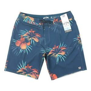 "Billabong Mens 18"" Sundays Pro Boardshorts Blue 32 New"