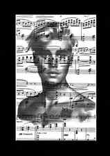 JUSTIN BIEBER Vintage Sheet Music Art Print Upcycled & Unique