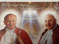 Polish stamp, canonization, Pope, Jan Pawel, Jean Paul, Polska, mint