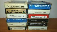 Lot of 12 Classic Country 8 Track Tapes Mandrell Charles Statler Slim Nabors