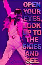 Queen Freddie Mercury Bohemian Rhapsody Look Up To The Skies Performance Poster