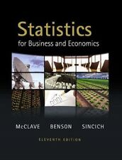 Statistics for Business and Economics 11th Edition by J T McClave ( WITH DVD )