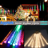 LED Meteor Shower String Light Tube Rain Drop Icicle Snow Xmas Tree Party Decor